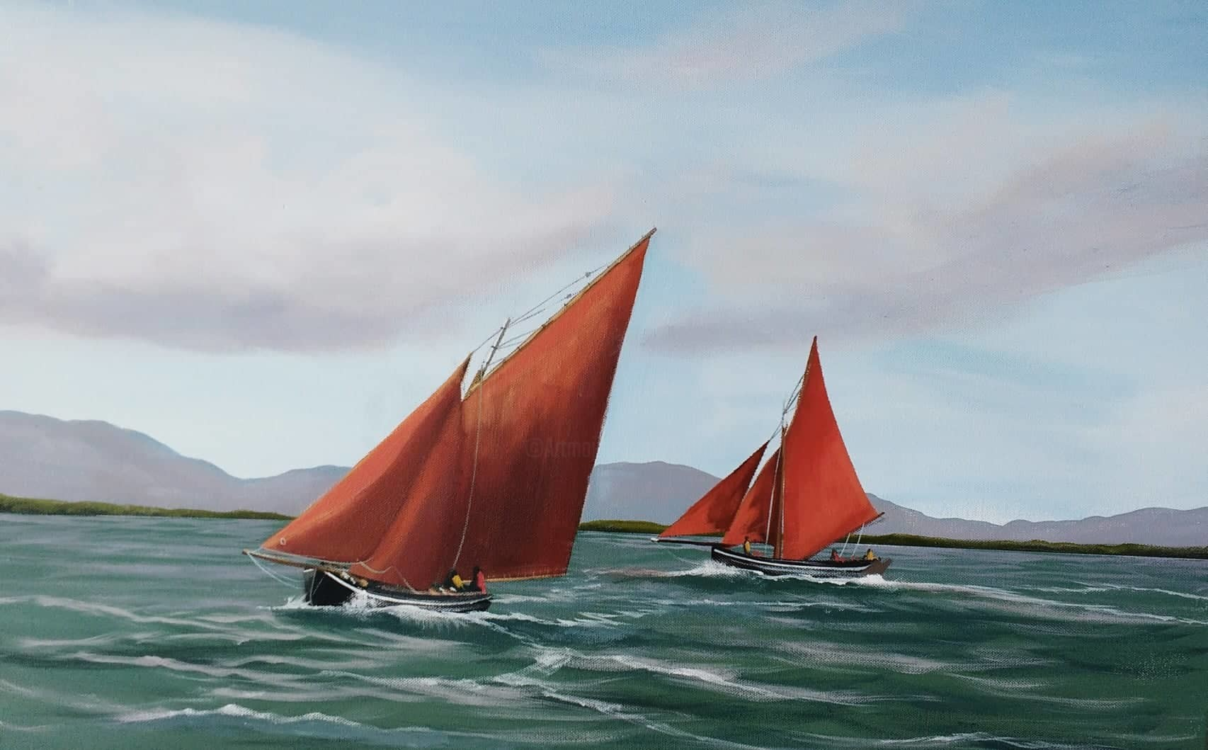 Cathal O Malley - galway-hooker-sailing