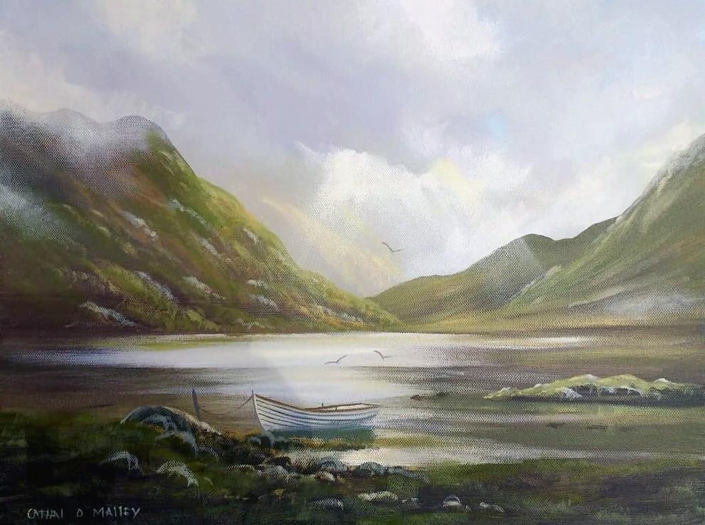Cathal O Malley - lakeside boat november