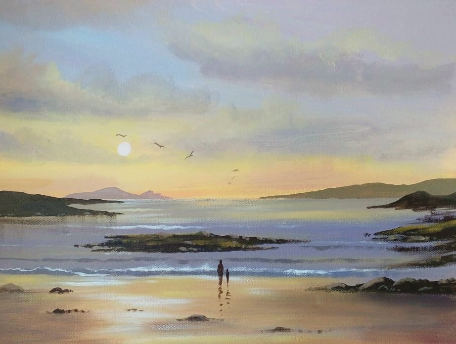 Cathal O Malley - omey strand sunset