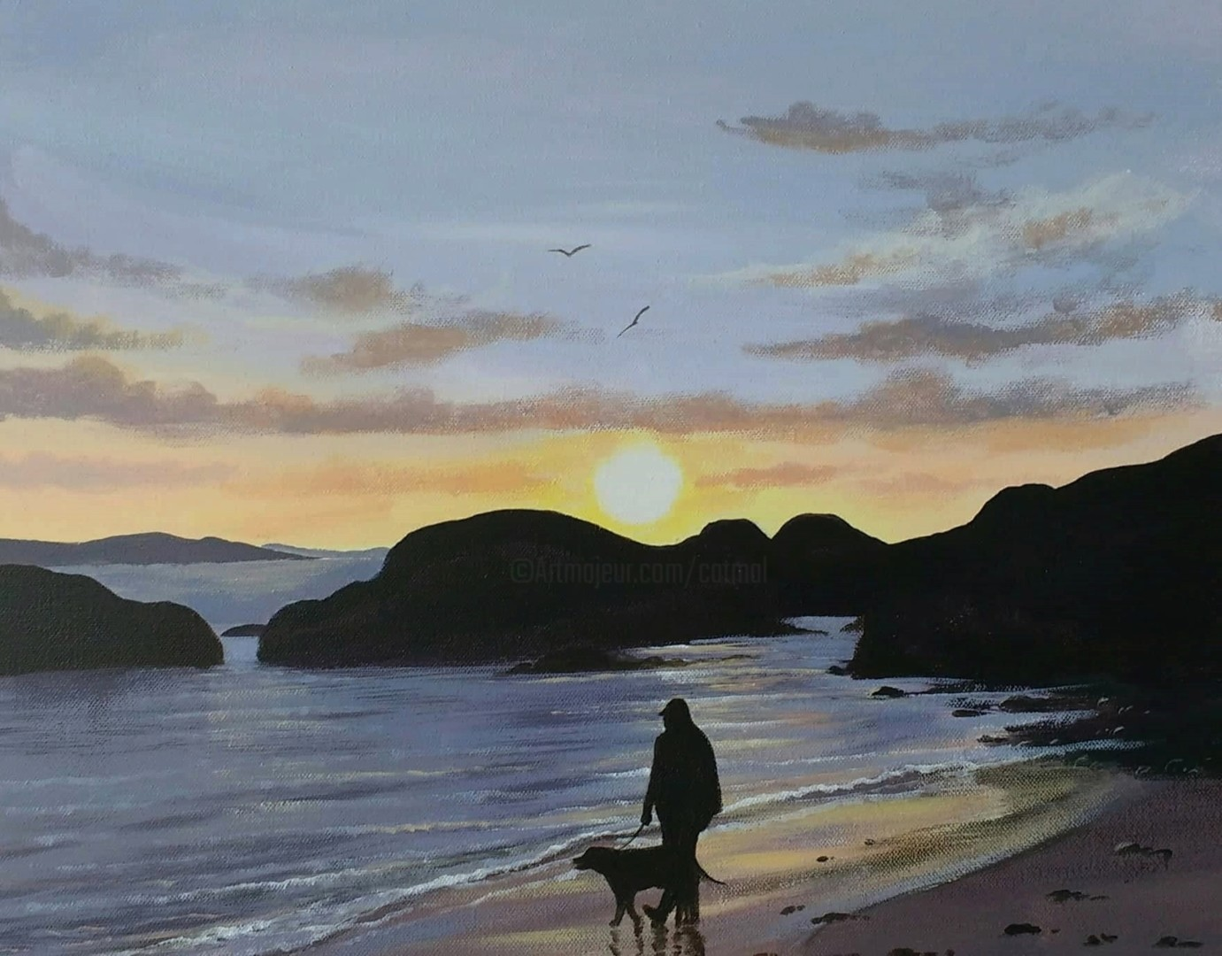 Cathal O Malley - sunset stroll,donegal
