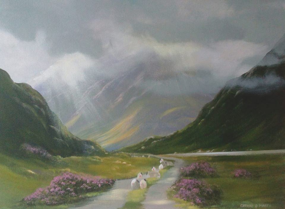 Cathal O Malley - connemara valley light 19