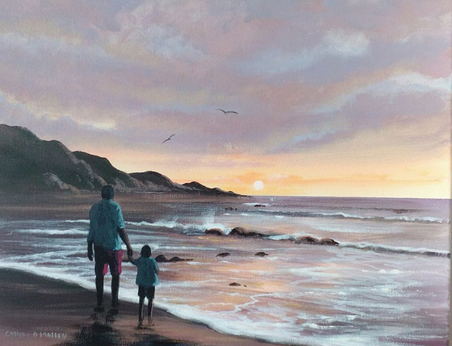 Cathal O Malley - summer evening waves