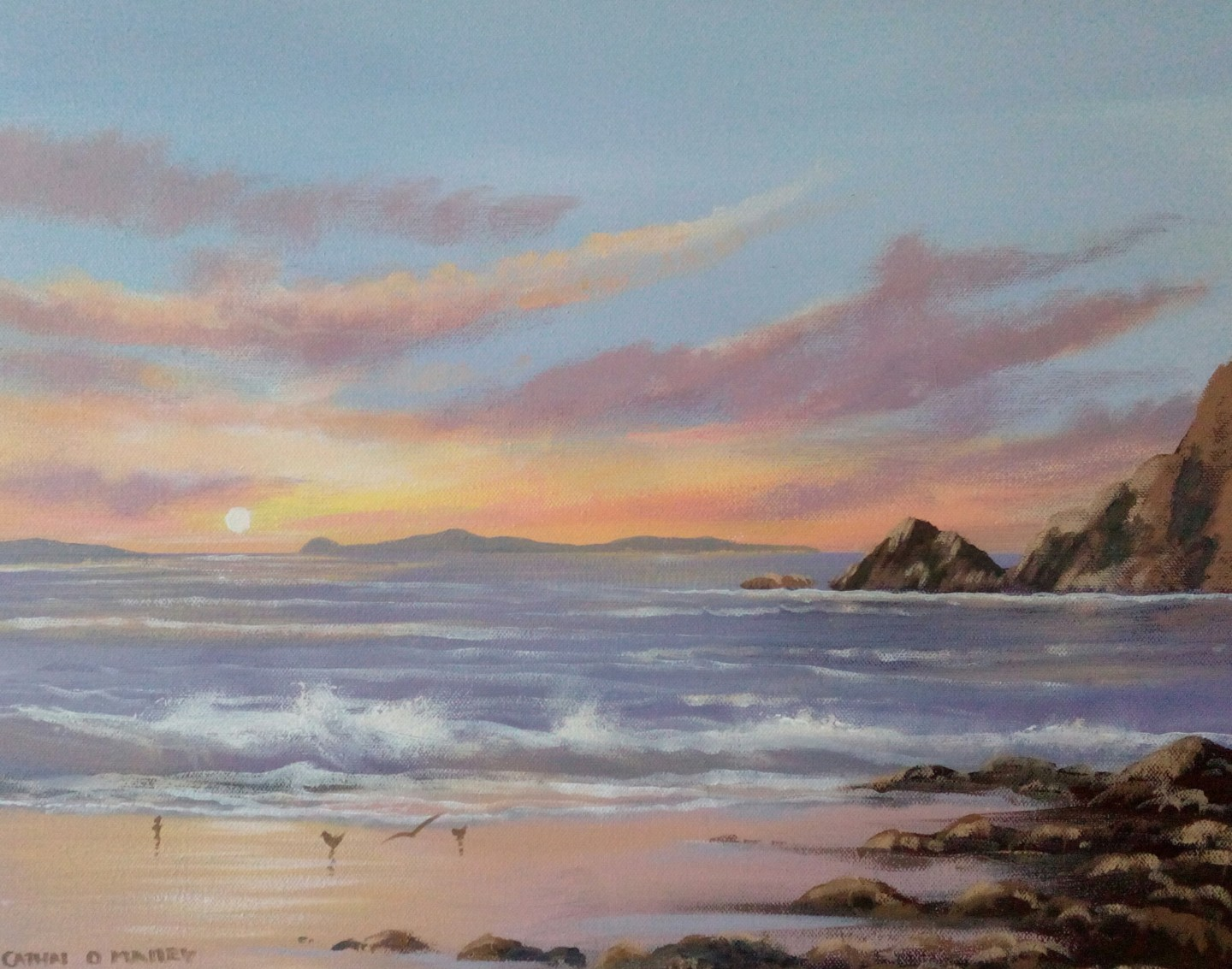 Cathal O Malley - Inishbofin sunset