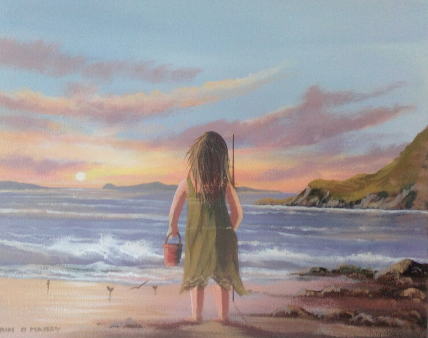 Cathal O Malley - Summer evening girl