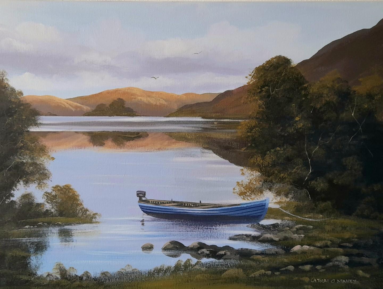 Cathal O Malley - Corrib boat