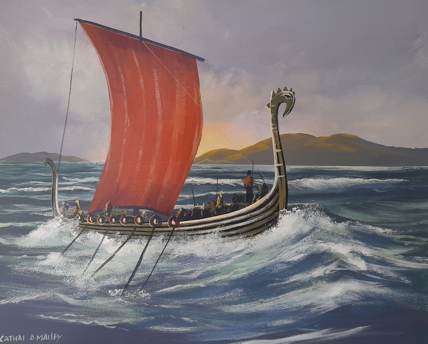Cathal O Malley - Vikings off kerry coast