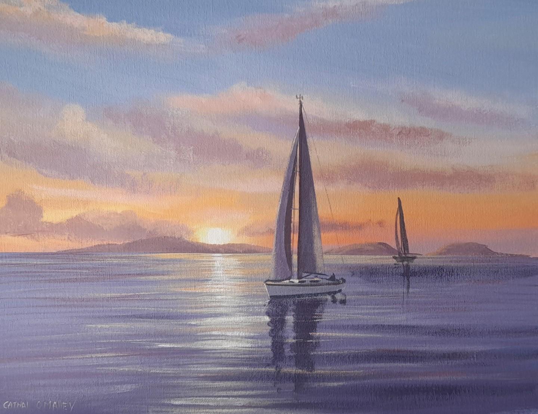 Cathal O Malley - Sailing by high island