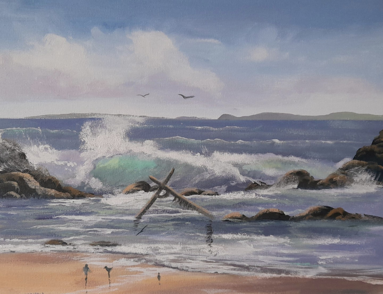 Cathal O Malley - Aughrisbeg  anchor beach