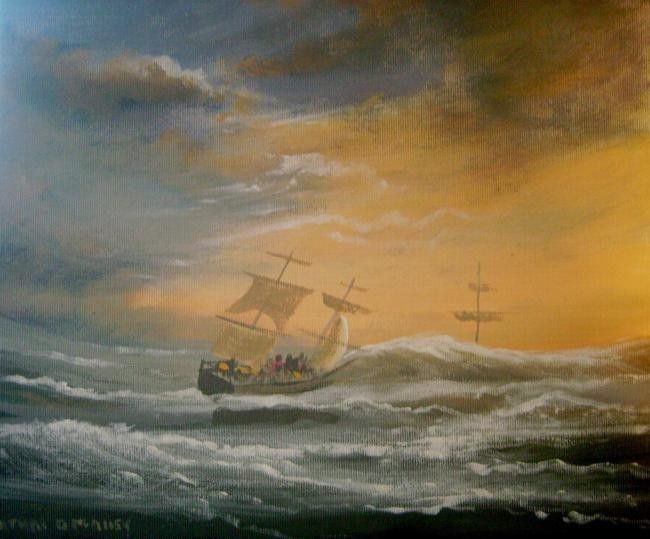 Cathal O Malley - sailing into a storm