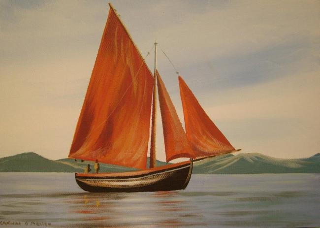 Cathal O Malley - galway fishing boat
