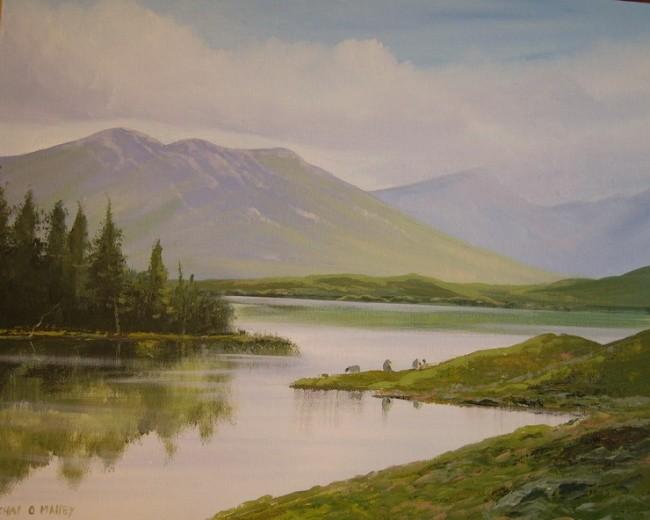 Cathal O Malley - lakeside trees
