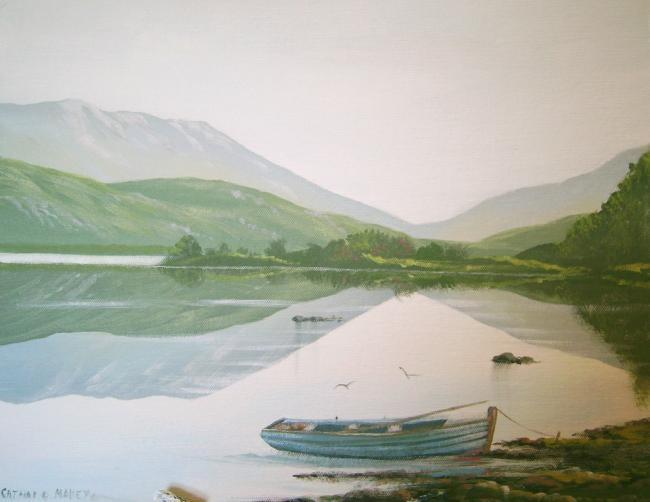 Cathal O Malley - inagh lake boat