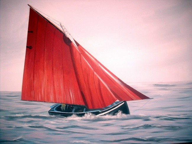 Cathal O Malley - sailing galway hooker