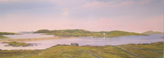 Cathal O Malley - omey island view 2012