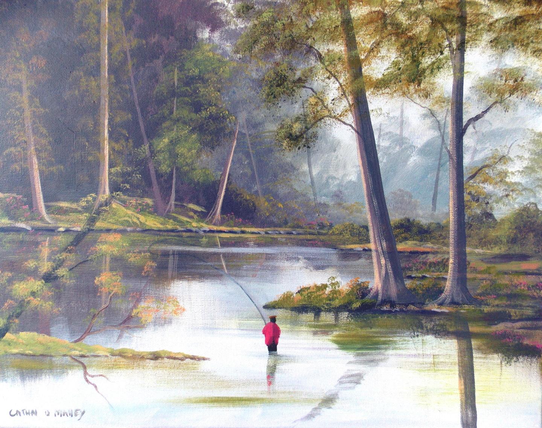 Cathal O Malley - river fishing