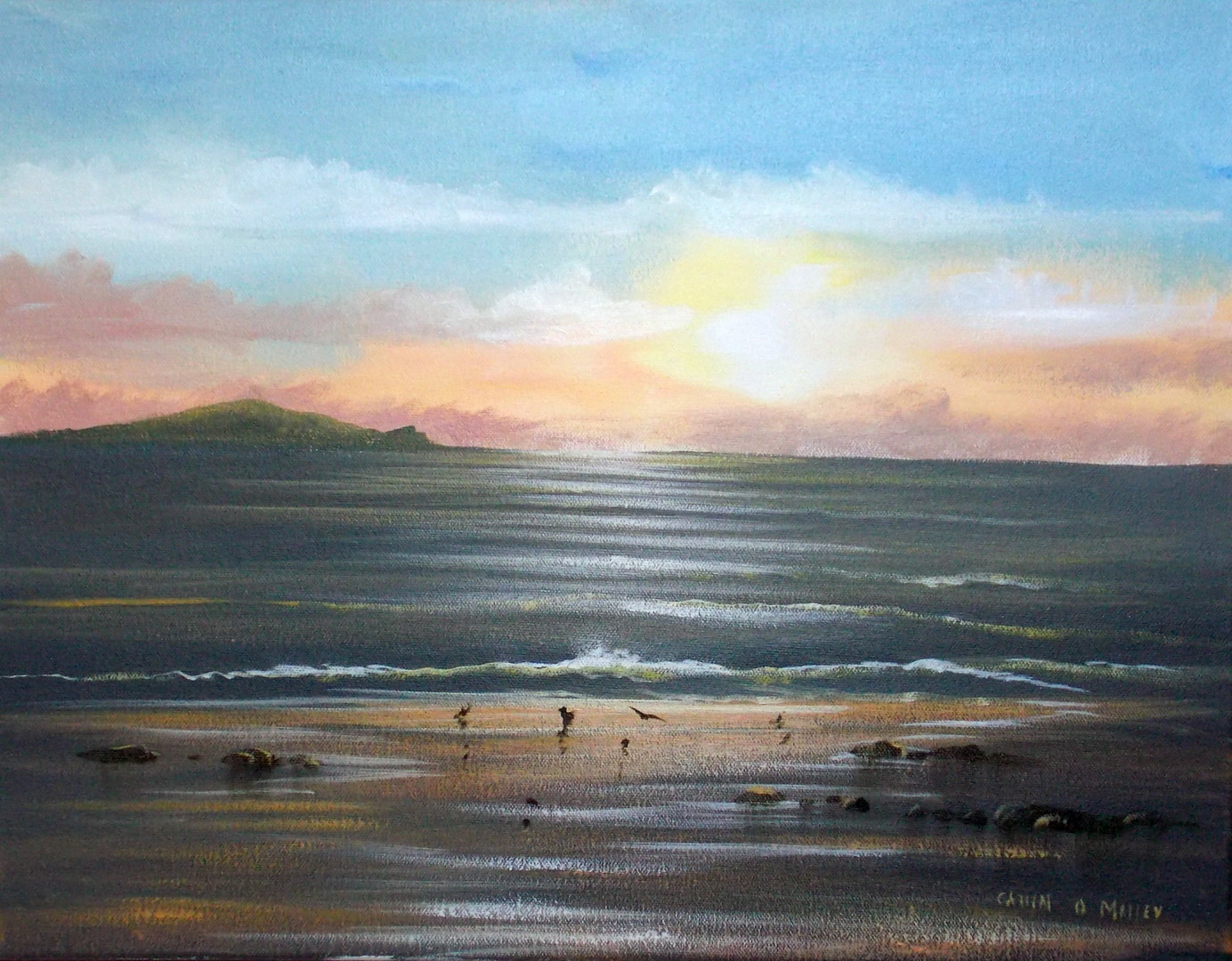 Cathal O Malley - cruagh  islannd sunset