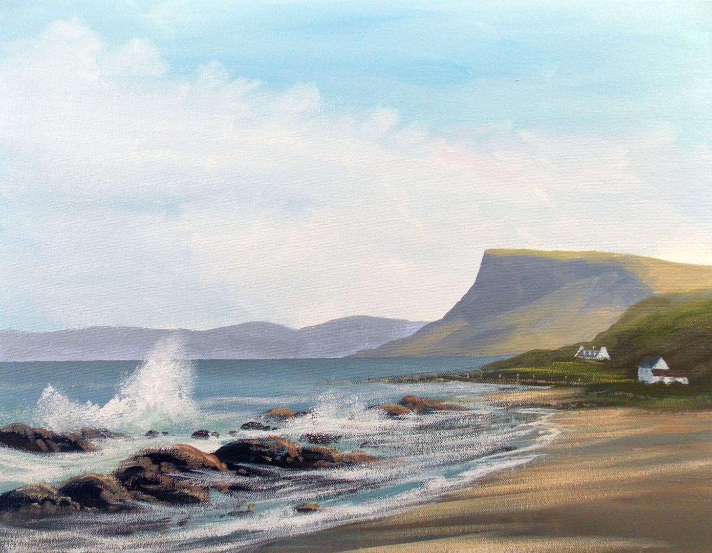 Cathal O Malley - beach in antrim