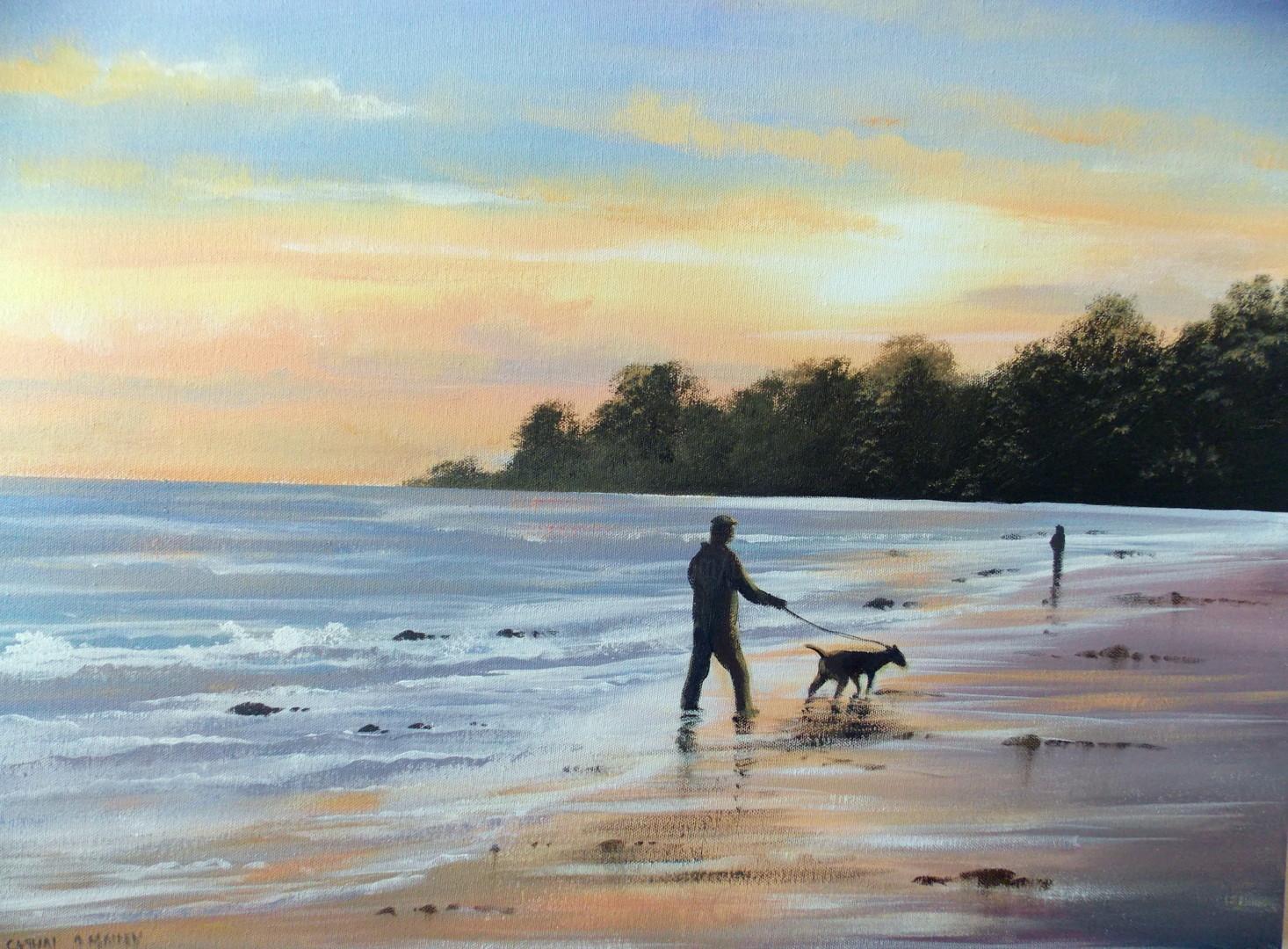 Cathal O Malley - sunset  beach