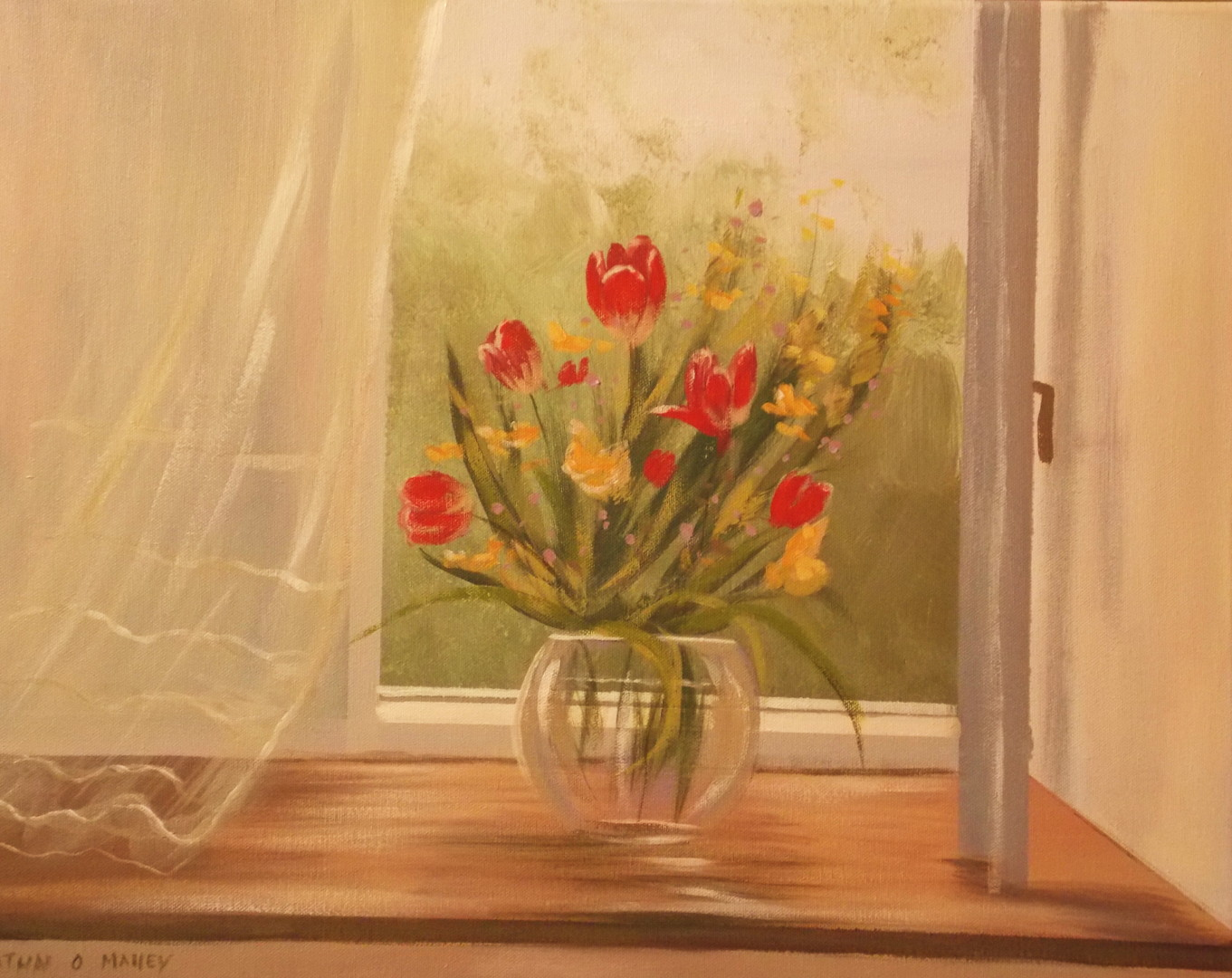 Cathal O Malley - window flowers