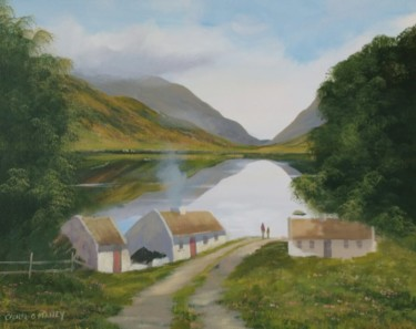 cottages by a lake