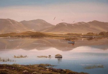 lake scene ,inagh valley co galway
