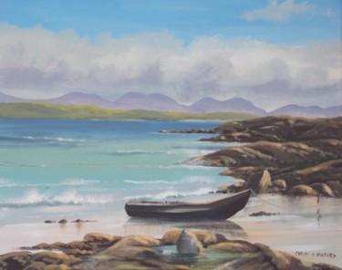 currach on mannin beach  co galway
