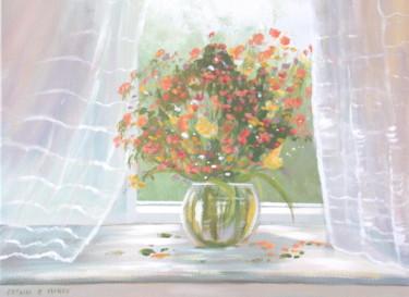 cottage window flowers