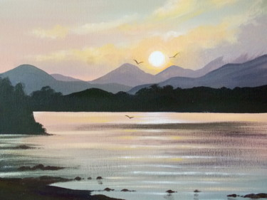 sunset, lakes of killarney