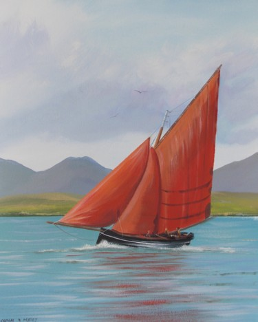 Galway hooker sailing