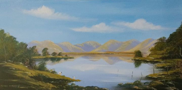 Cathal O Malley - lake at maamcross