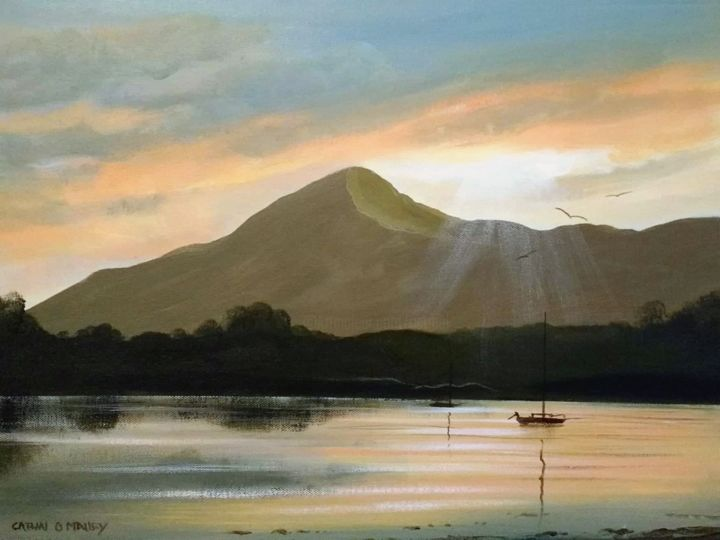 Cathal O Malley - croagh patrick sunset