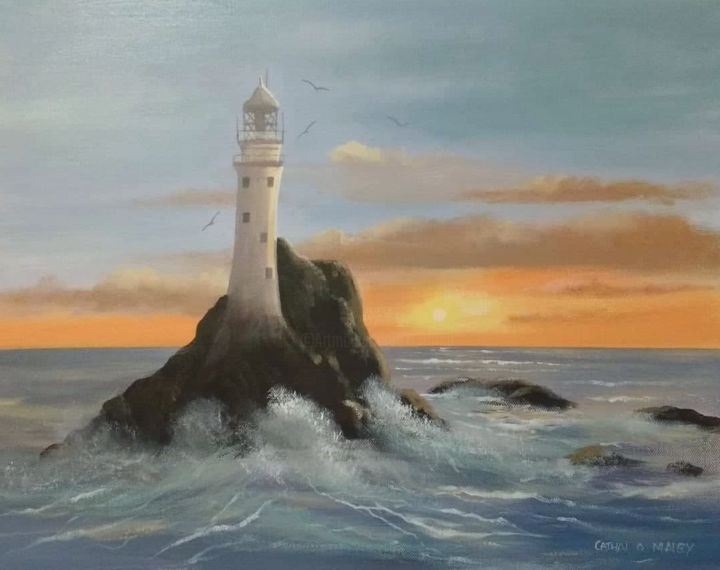 Cathal O Malley - fastnet sunset