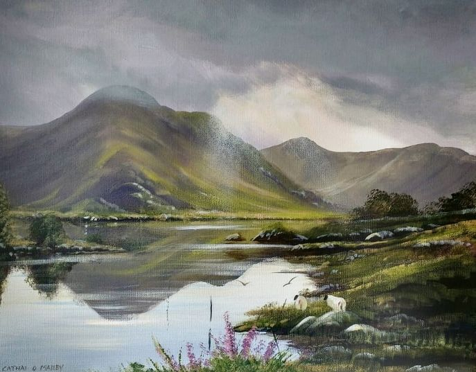 Cathal O Malley - connemara-evening-light-