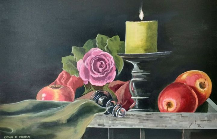 Cathal O Malley - still life with apples