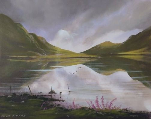 Cathal O Malley - kylemore-lake-flowers