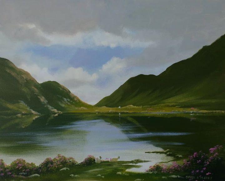 Cathal O Malley - lakeside-sheep