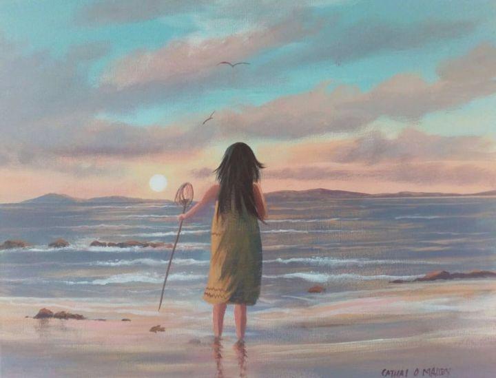 Cathal O Malley - cleggan waves july