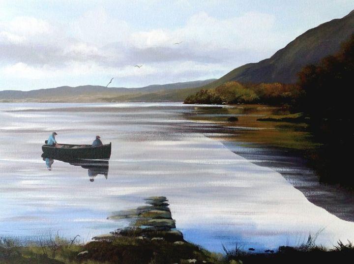 Cathal O Malley - lake reflections killarney